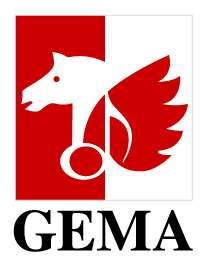 GEMA- Gesellschaft für musikalische Aufführungs- und mechanische Vervielfältigungsrechte Logo